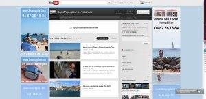la chaine vidéos du Cap d'Agde sur youtube